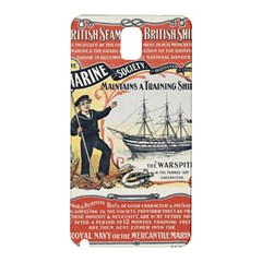 Vintage Advertisement British Navy Marine Typography Samsung Galaxy Note 3 N9005 Hardshell Back Case
