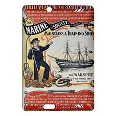 Vintage Advertisement British Navy Marine Typography Amazon Kindle Fire HD (2013) Hardshell Case