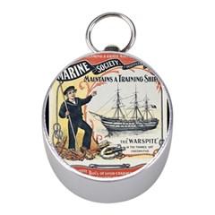Vintage Advertisement British Navy Marine Typography Mini Silver Compasses