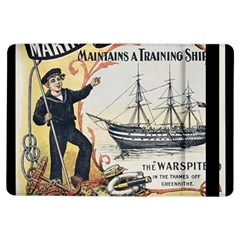 Vintage Advertisement British Navy Marine Typography iPad Air Flip