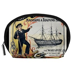 Vintage Advertisement British Navy Marine Typography Accessory Pouches (Large)