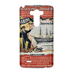 Vintage Advertisement British Navy Marine Typography LG G3 Hardshell Case