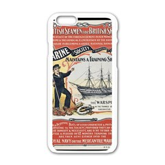 Vintage Advertisement British Navy Marine Typography Apple iPhone 6/6S White Enamel Case