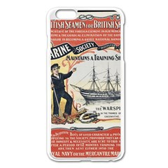 Vintage Advertisement British Navy Marine Typography Apple iPhone 6 Plus/6S Plus Enamel White Case