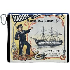 Vintage Advertisement British Navy Marine Typography Canvas Cosmetic Bag (XXXL)