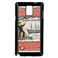 Vintage Advertisement British Navy Marine Typography Samsung Galaxy Note 4 Case (Black)