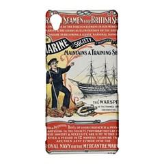 Vintage Advertisement British Navy Marine Typography Sony Xperia Z3