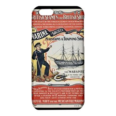 Vintage Advertisement British Navy Marine Typography iPhone 6/6S TPU Case