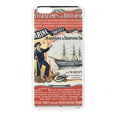 Vintage Advertisement British Navy Marine Typography Apple Seamless iPhone 6 Plus/6S Plus Case (Transparent)