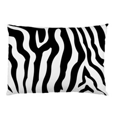 Zebra Horse Skin Pattern Black And White Pillow Case (two Sides)