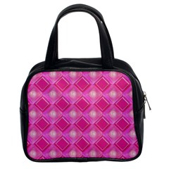 Pink Sweet Number 16 Diamonds Geometric Pattern Classic Handbags (2 Sides)