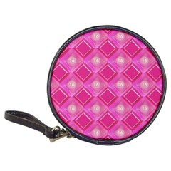 Pink Sweet Number 16 Diamonds Geometric Pattern Classic 20-CD Wallets