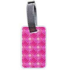 Pink Sweet Number 16 Diamonds Geometric Pattern Luggage Tags (Two Sides)