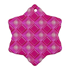 Pink Sweet Number 16 Diamonds Geometric Pattern Snowflake Ornament (2-Side)