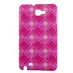 Pink Sweet Number 16 Diamonds Geometric Pattern Samsung Galaxy Note 1 Hardshell Case