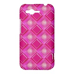 Pink Sweet Number 16 Diamonds Geometric Pattern HTC Rhyme