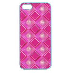 Pink Sweet Number 16 Diamonds Geometric Pattern Apple Seamless iPhone 5 Case (Color)
