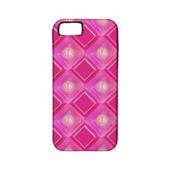 Pink Sweet Number 16 Diamonds Geometric Pattern Apple iPhone 5 Classic Hardshell Case (PC+Silicone)