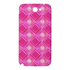Pink Sweet Number 16 Diamonds Geometric Pattern Samsung Note 2 N7100 Hardshell Back Case