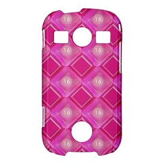 Pink Sweet Number 16 Diamonds Geometric Pattern Samsung Galaxy S7710 Xcover 2 Hardshell Case