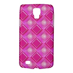 Pink Sweet Number 16 Diamonds Geometric Pattern Galaxy S4 Active