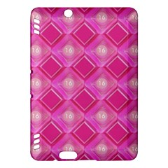 Pink Sweet Number 16 Diamonds Geometric Pattern Kindle Fire Hdx Hardshell Case