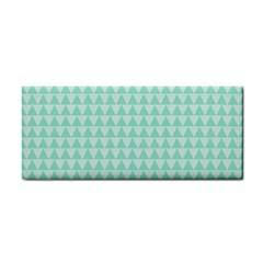 Mint Color Triangle Pattern Hand Towel