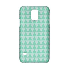 Mint Color Triangle Pattern Samsung Galaxy S5 Hardshell Case