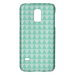 Mint Color Triangle Pattern Galaxy S5 Mini