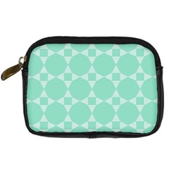 Mint Color Star   Triangle Pattern Digital Camera Cases