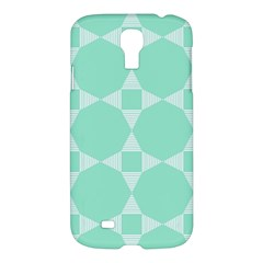 Mint Color Star   Triangle Pattern Samsung Galaxy S4 I9500/i9505 Hardshell Case