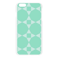 Mint color star - triangle pattern Apple Seamless iPhone 6 Plus/6S Plus Case (Transparent)