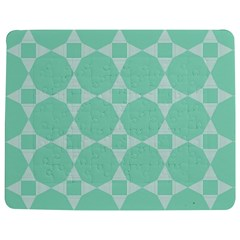 Mint color star - triangle pattern Jigsaw Puzzle Photo Stand (Rectangular)
