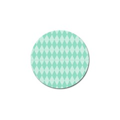 Mint Color Diamond Shape Pattern Golf Ball Marker (10 Pack)