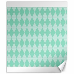 Mint Color Diamond Shape Pattern Canvas 20  X 24