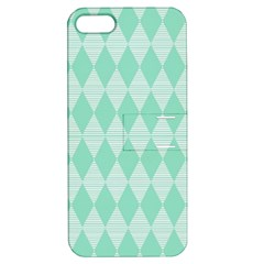 Mint Color Diamond Shape Pattern Apple Iphone 5 Hardshell Case With Stand