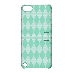 Mint Color Diamond Shape Pattern Apple Ipod Touch 5 Hardshell Case With Stand