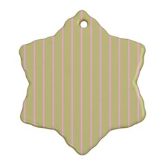 Summer Sand Color Pink Stripes Ornament (snowflake)