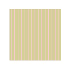 Summer Sand Color Pink Stripes Small Satin Scarf (square)