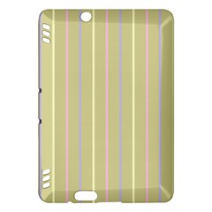 Summer Sand Color Lilac Pink Yellow Stripes Pattern Kindle Fire Hdx Hardshell Case