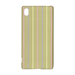 Summer Sand Color Lilac Pink Yellow Stripes Pattern Sony Xperia Z3+