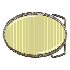 Summer Sand Color Yellow Stripes Pattern Belt Buckles