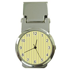 Summer Sand Color Yellow Stripes Pattern Money Clip Watches