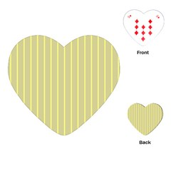 Summer Sand Color Yellow Stripes Pattern Playing Cards (heart)