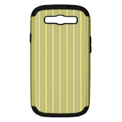 Summer Sand Color Yellow Stripes Pattern Samsung Galaxy S Iii Hardshell Case (pc+silicone)