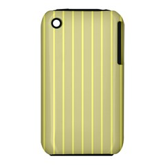 Summer Sand Color Yellow Stripes Pattern Apple Iphone 3g/3gs Hardshell Case (pc+silicone)