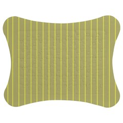 Summer Sand Color Yellow Stripes Pattern Jigsaw Puzzle Photo Stand (bow)