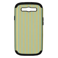 Summer Sand Color Blue Stripes Pattern Samsung Galaxy S Iii Hardshell Case (pc+silicone)