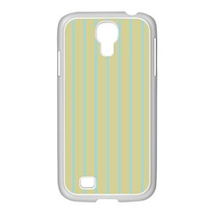 Summer Sand Color Blue Stripes Pattern Samsung Galaxy S4 I9500/ I9505 Case (white)