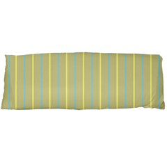 Summer Sand Color Blue And Yellow Stripes Pattern Body Pillow Case Dakimakura (two Sides)